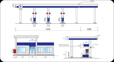 Согласование информационных и рекламных конструкций на фасаде торгового комплекса, бизнес центра, АЗС